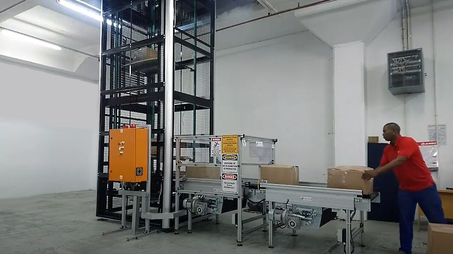 Vertical Lift Conveyor loading operation