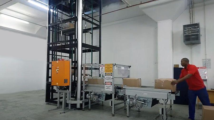 Vertical Lift Conveyor loading operation