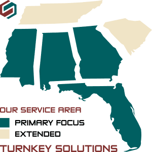 Service Area States Turnkey Solutions