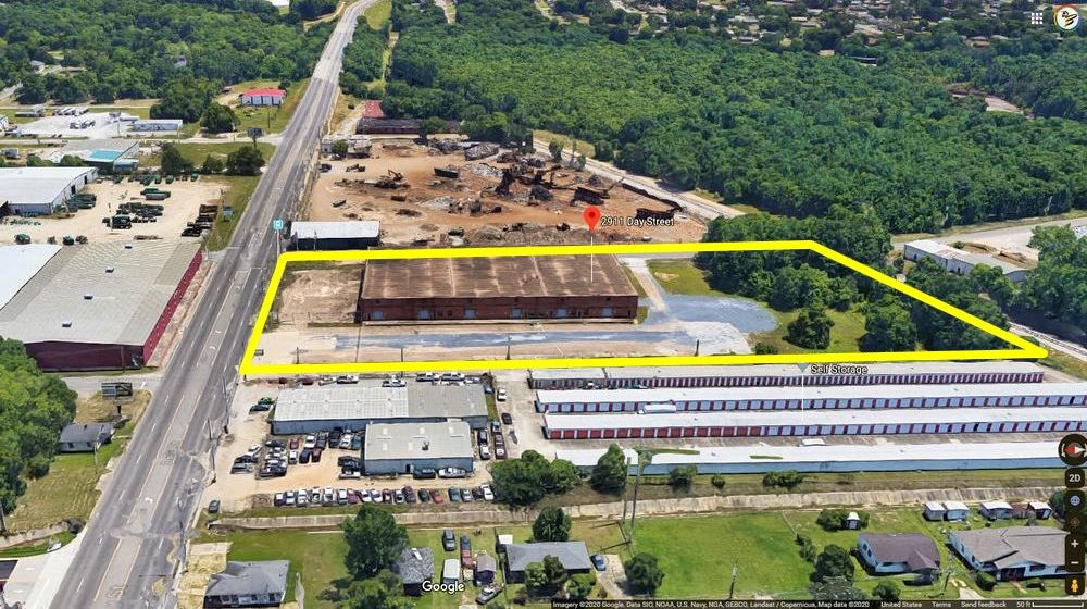 Warehouse Rental Space_Aerial View of property lines