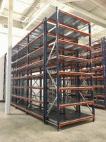 Warehouse Shelving Equipment angled view